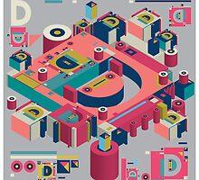 alphabet 3D letter D by singpentinkhepi