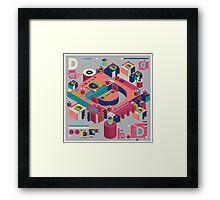 alphabet 3D letter D Framed Print