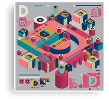 alphabet 3D letter D Canvas Print