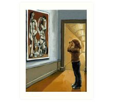 """Figurative Oil Painting - """"Preserving Picasso"""" Art Print"""