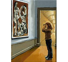 """Figurative Oil Painting - """"Preserving Picasso"""" Photographic Print"""