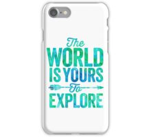The World is Yours To Explore - Green/Blue Version. iPhone Case/Skin