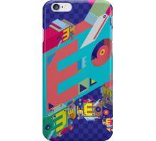 vector alphabet 3D letter E iPhone Case/Skin