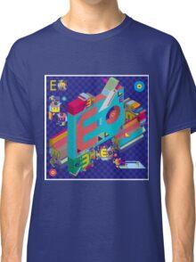 vector alphabet 3D letter E Classic T-Shirt