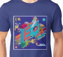 vector alphabet 3D letter E Unisex T-Shirt