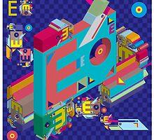 vector alphabet 3D letter E by singpentinkhepi