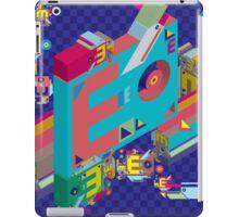vector alphabet 3D letter E iPad Case/Skin