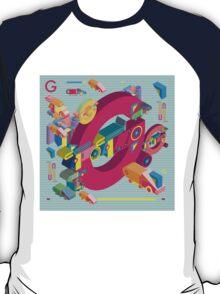vector alphabet 3D letter G T-Shirt