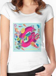vector alphabet 3D letter G Women's Fitted Scoop T-Shirt