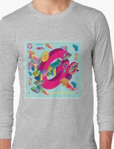 vector alphabet 3D letter G Long Sleeve T-Shirt