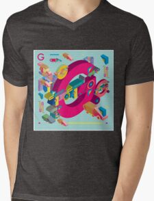 vector alphabet 3D letter G Mens V-Neck T-Shirt