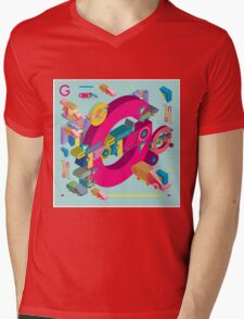 vector alphabet 3D letter G Mens V-Neck T-Shirt