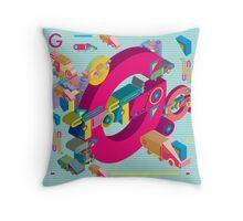 vector alphabet 3D letter G Throw Pillow
