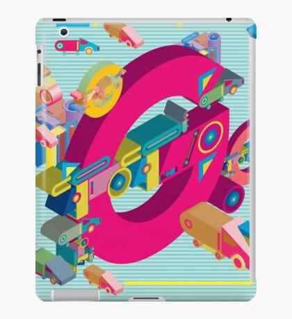 vector alphabet 3D letter G iPad Case/Skin