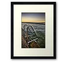 Weight Pool Framed Print