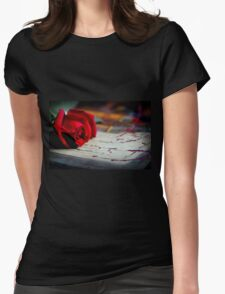 Love Is ... A Red Rose Womens Fitted T-Shirt