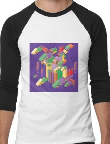 abstract robot machine Men's Baseball ¾ T-Shirt