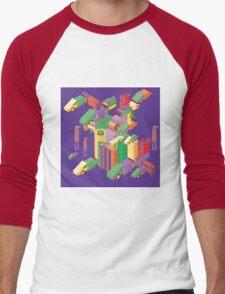 abstract robot machine Men's Baseball ¾ T-Shirt