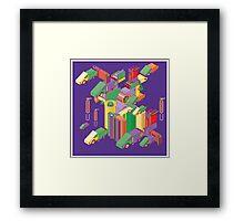 abstract robot machine Framed Print