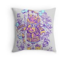 jakarta 24 hours Throw Pillow