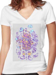 jakarta 24 hours Women's Fitted V-Neck T-Shirt