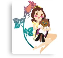 Beauty and her Beast Canvas Print