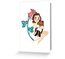 Beauty and her Beast Greeting Card