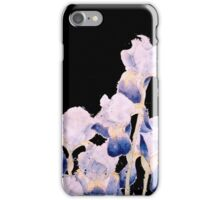 Black Iris - Flowing Watercolor iPhone Case/Skin