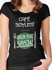 Soylent Cafe's Green Plate Special Women's Fitted Scoop T-Shirt
