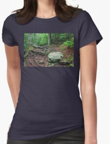 Trail of Roots and Rocks Womens Fitted T-Shirt