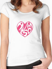 A Heart of Awesome Women's Fitted Scoop T-Shirt