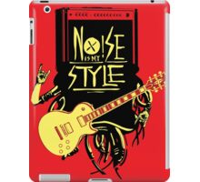 noise music is my style iPad Case/Skin
