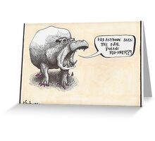 Hippo Greeting Card