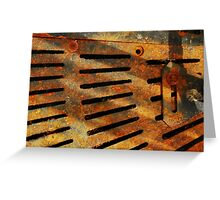 Rusted Grate Greeting Card