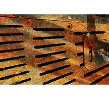 Rusted Grate Photographic Print