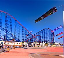 Roller Coaster and Windsocks by David Bradbury