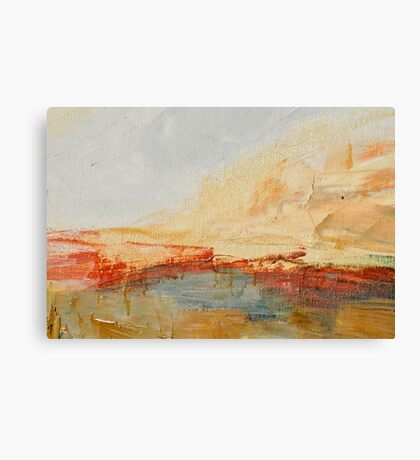 Zoom to Red house on the lake Canvas Print