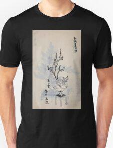 Yenshu ryu ikebana hiak bin no zu shiki konzatsu Flower arrangement in the Enshu style V2 1897 0046 T-Shirt