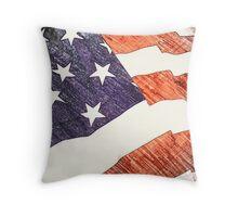 USA Flag Throw Pillow