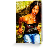 :::Blue Diamond::: Greeting Card
