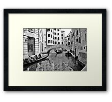 black and white venise Framed Print
