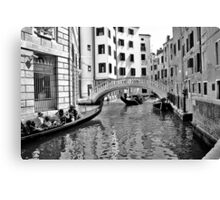 black and white venise Canvas Print