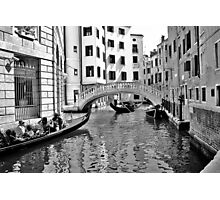 black and white venise Photographic Print