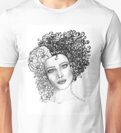 Girl With a Curl Unisex T-Shirt