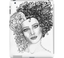 Girl With a Curl iPad Case/Skin