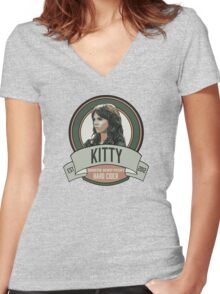 Brownstone Brewery: Kitty Winters Hard Cider Women's Fitted V-Neck T-Shirt