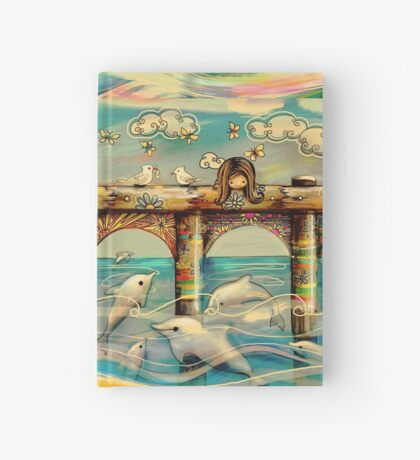 Dolphin Pier Hardcover Journal