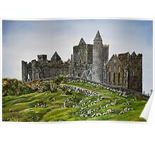 Rock of Cashel, Ireland (Carraig Phadraig) - oil painting Poster