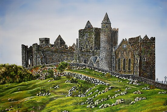 Rock of Cashel, Ireland (Carraig Phadraig) - oil painting by Avril Brand