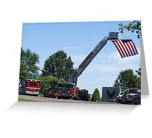 Funeral for a Fireman Greeting Card